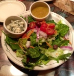 carrabas italian salad with blue cheese crumbles